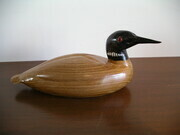 Loon carved in Butternut